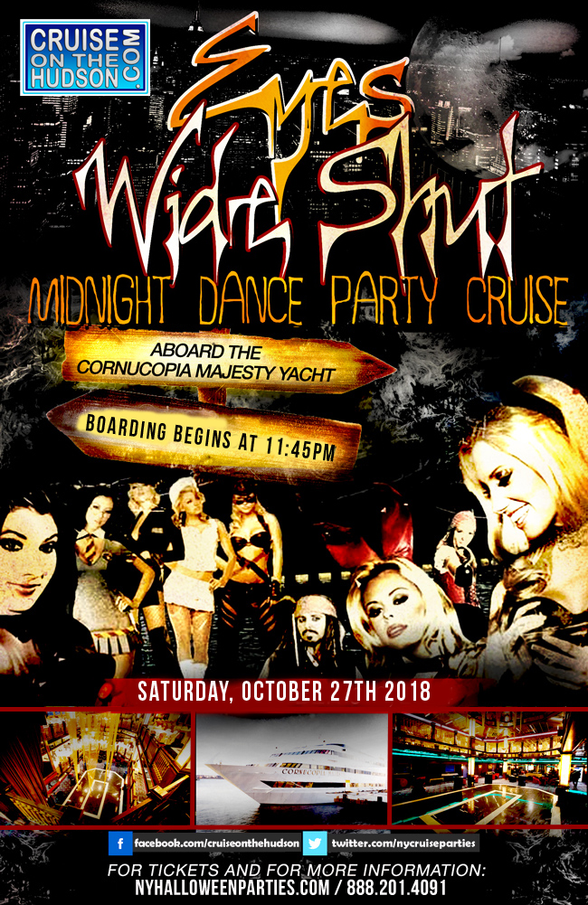Eyes Wide Shut Dance Cruise aboard the Cornucopia Majesty Yacht NYC Halloween Flyer