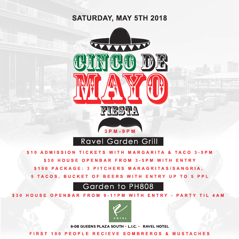 Ravel Hotel NYC Cinco De Mayo NYC Celebration