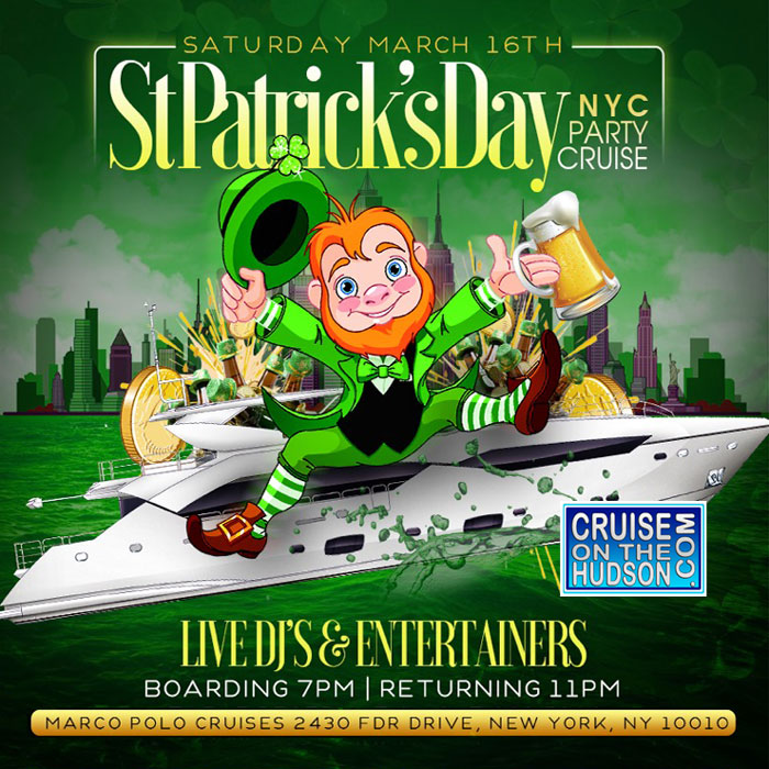St Patricks Day Parade Cruise Yacht Party Boat Party NYC