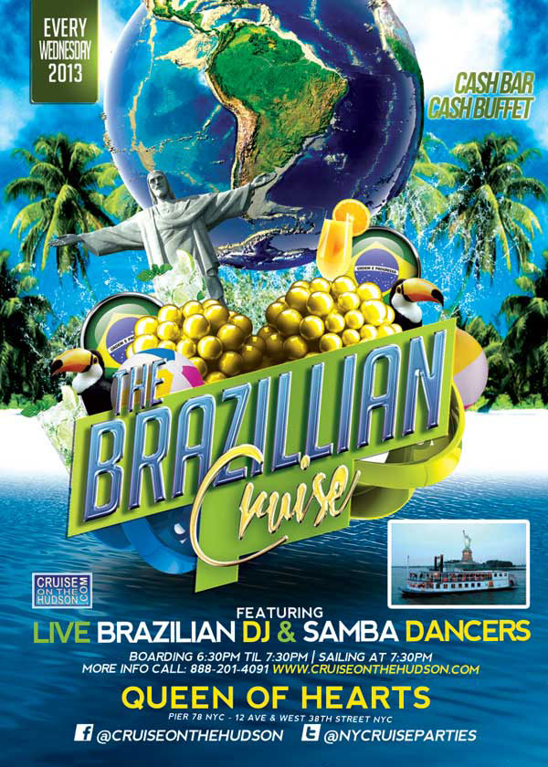Wednesday After Work Brazilian Cruise at Pier 40 NYC Flyer