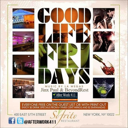 Sofrito NYC Lounge NYC Nightlife After Work Friday NYC Happy Hour