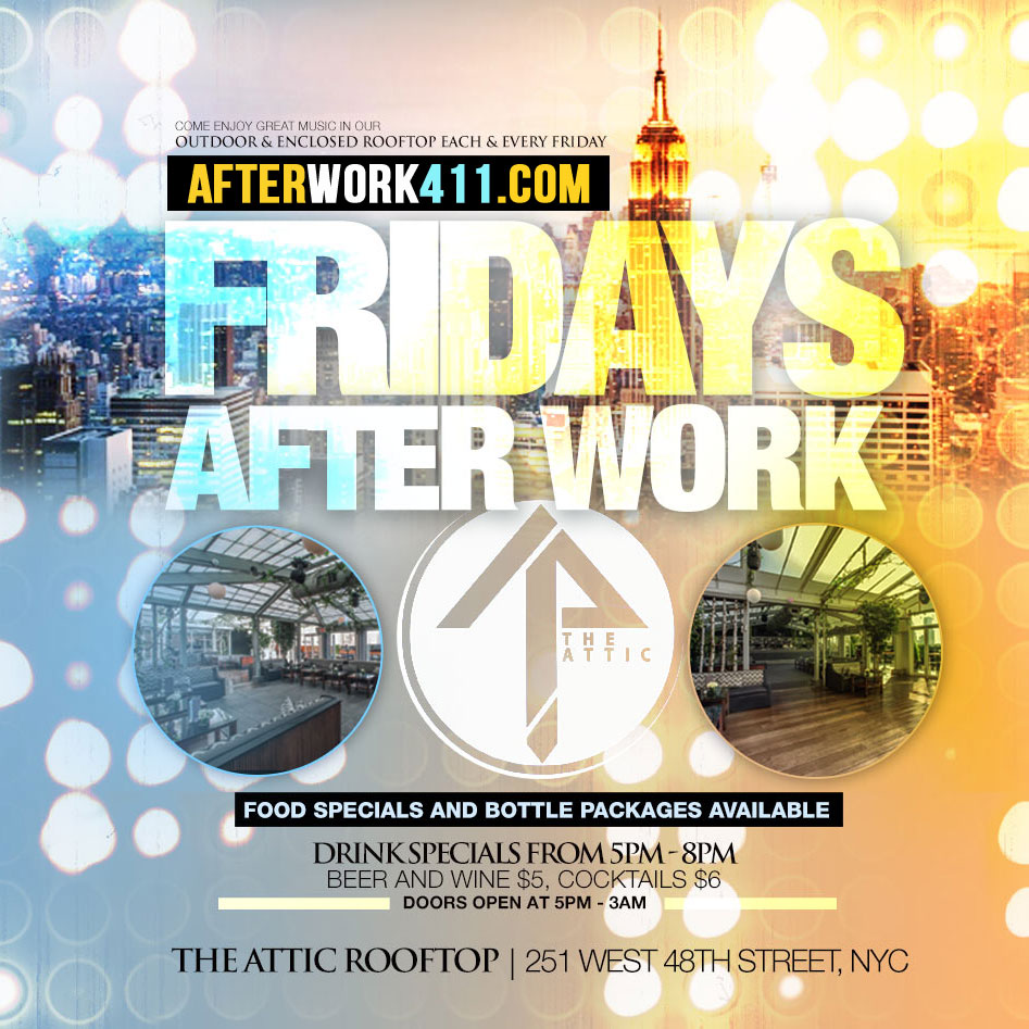 Memorial Day Weekend Attic Rooftop Lounge NYC Friday After Work