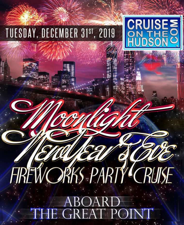 Moonlight NYC New Years Eve On The Water at Pier 15 NYC South Street Seaport NYC New Years Cruise Tickets