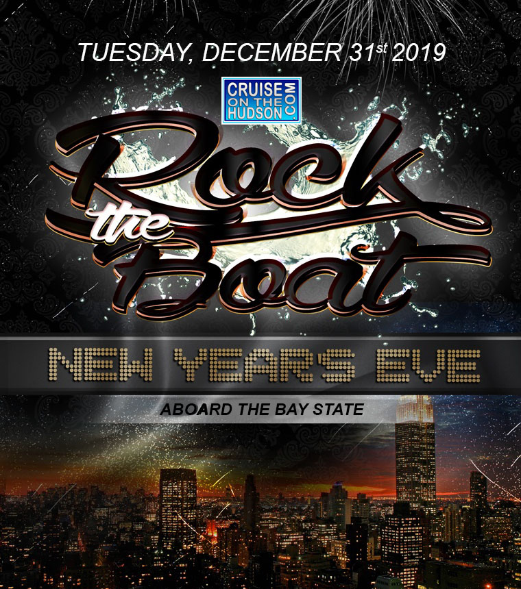 Rock The Boat NYC New Years Eve Fireworks Party Cruise at Pier 40 NYC New Years Cruise Tickets