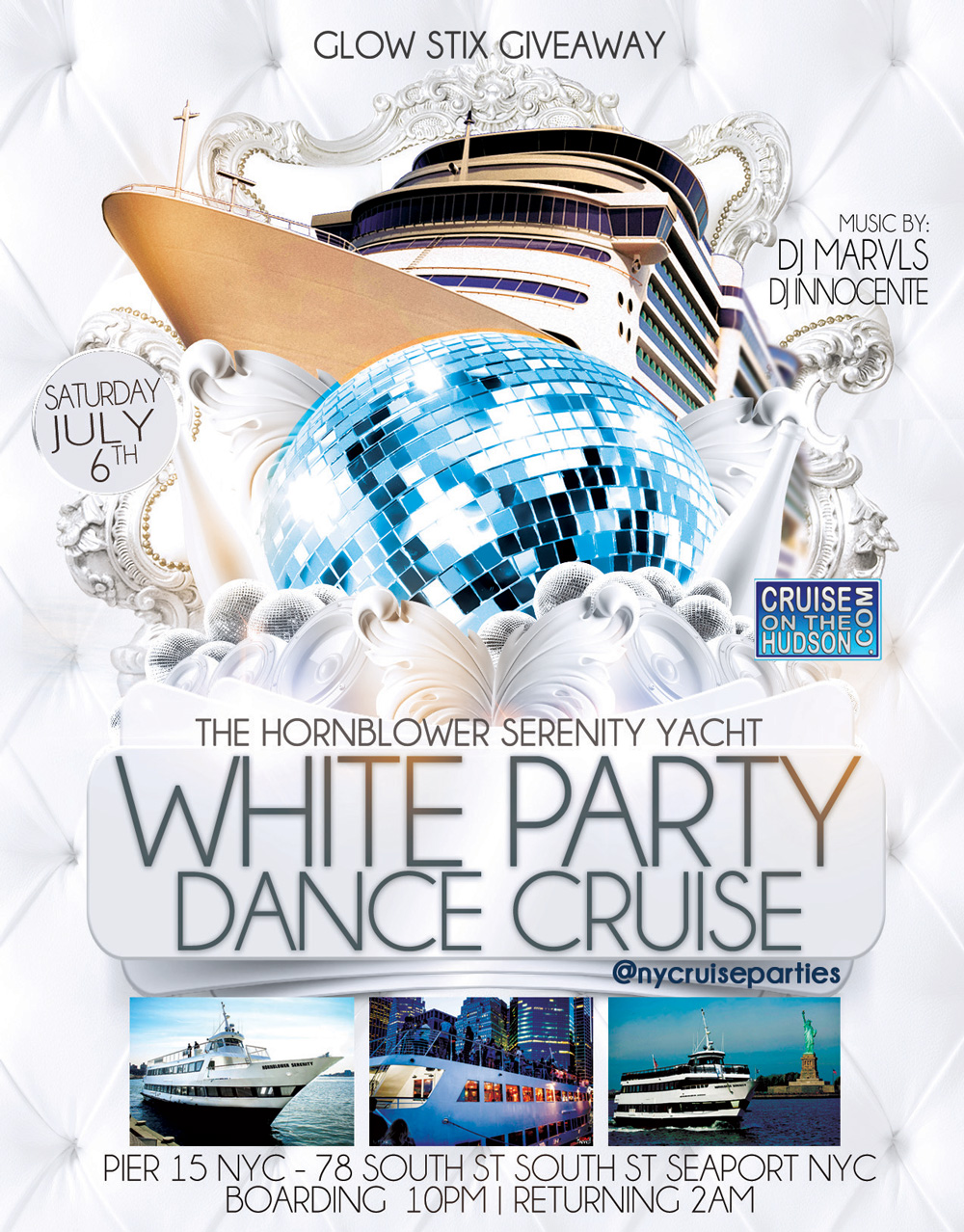 All White Party NYC Cruise Party Pier 15 NYC South Street Seaport
