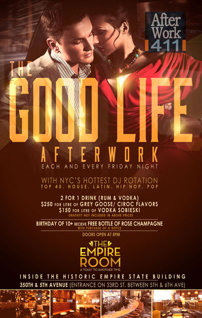 After work friday at The Empire Room NYC Flyer