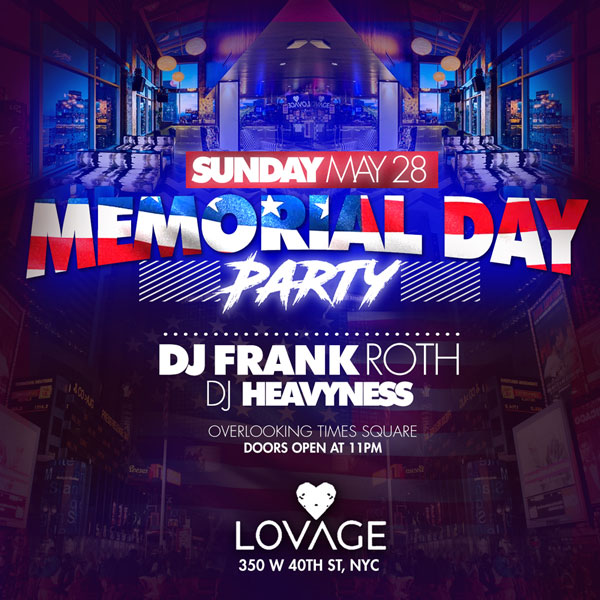 Memorial Day weekend 2017 Lovage Lounge Rooftop NYC