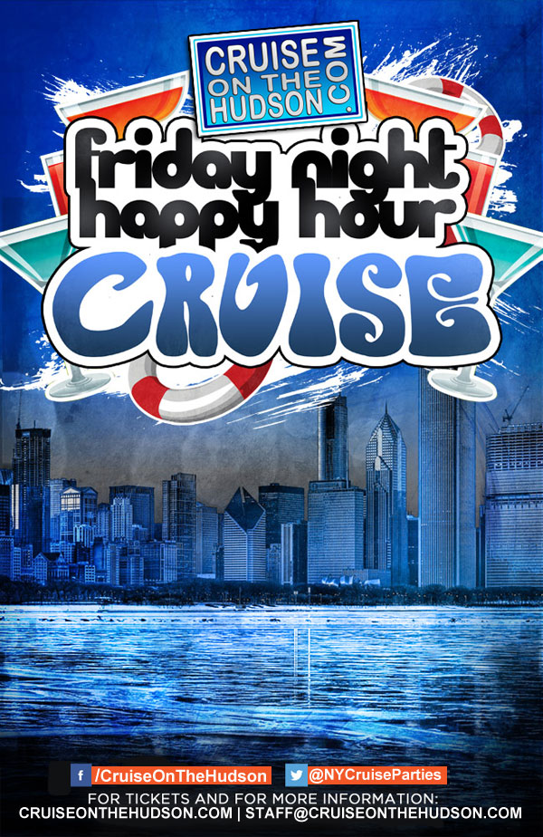 NYC Friday Night Happy Hour Dance Cruise on The Hudson - Skyport Marina NYC After Work Cruise