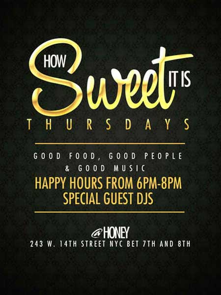 After work Thursday at Honey Lounge NYC Flyer