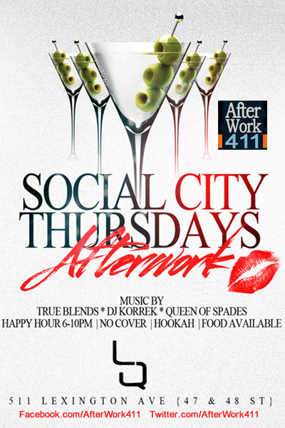 After work Thursday at LQ Nightclub Flyer