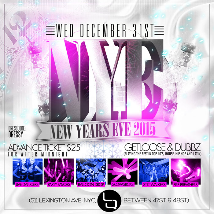 Midtown LQ NYC New Years Eve Party LQ New York