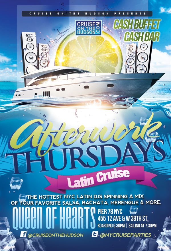 Latin Cruise After Work Cruise at Pier 78 NYC Flyer