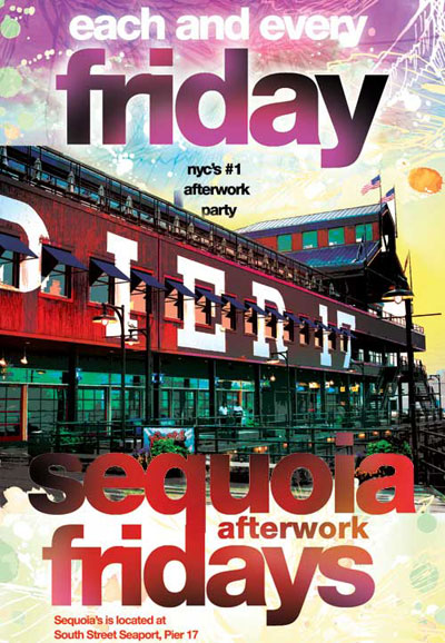 After work friday at Sequoia NYC - South Street Seaport