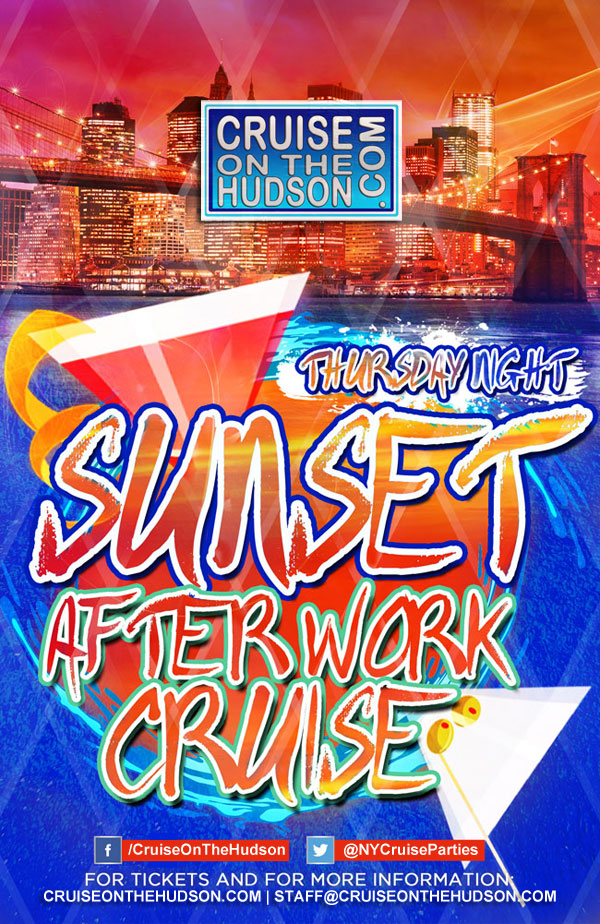 Thursday Night Sunset After Work Cruise NYC Skyport Marina NYC